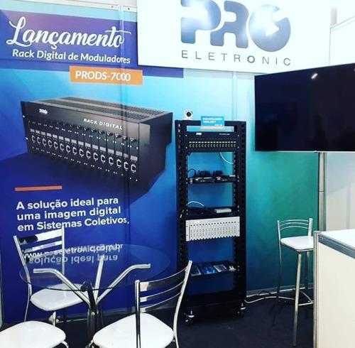 instalação rack sistema coletivo de tv a cabo em hotéis