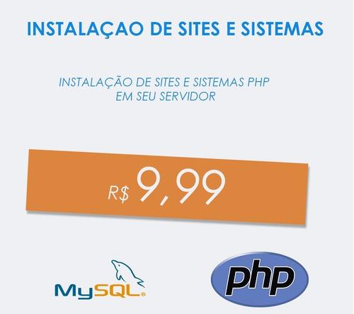 instalação script site html loja php hospedagem local host