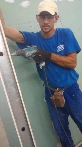 instalação sistema drywall