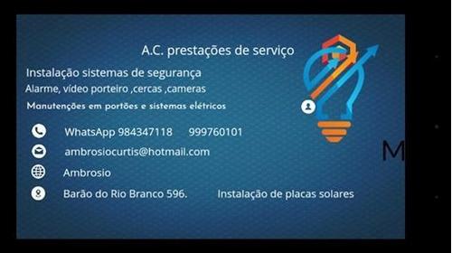 instalações e manutenções :sistemas de alarme e cftv