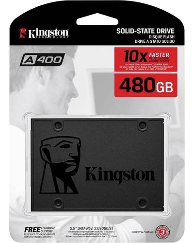 instalado!!! disco rigido ssd 240 gb kingston a400 fac a o b