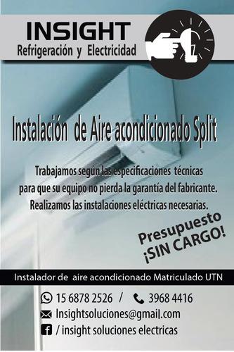 instalador aire acondicionado split matriculado caba z oeste
