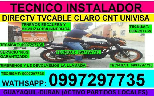 instalador antenas directv tvcable univisa cnt instalaciones
