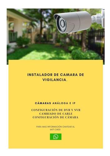 instalador de cámara de seguridad