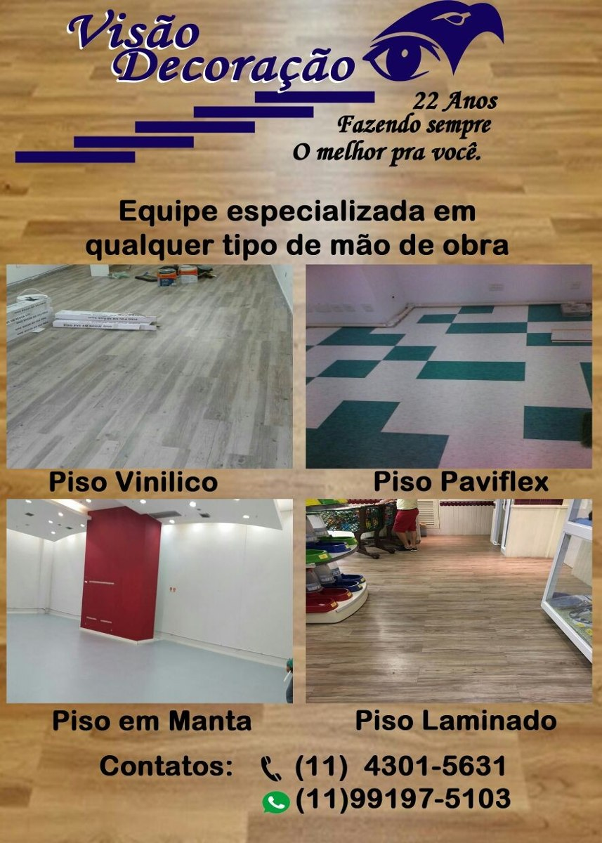 Instalador De Piso Vin Lico Manta Carpete R 15 00 Em  ~ Piso Paviflex Para Cozinha