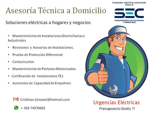 instalador eléctrico autorizado sec clase a