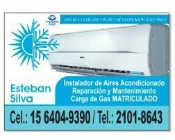 instalador matriculado reparación y carga de gas aire acond