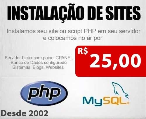 instalar script em php e crm promoção