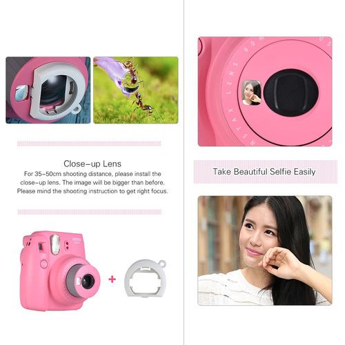 instant camara fujifilm instax mini 9 rosa envio gratis