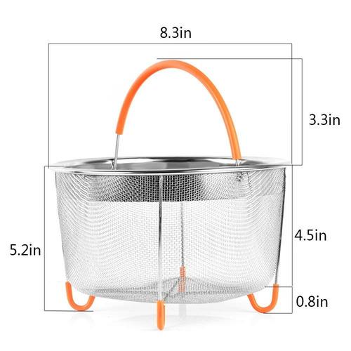 instantáneo pot accesorios de acero acero vapor cesta inser