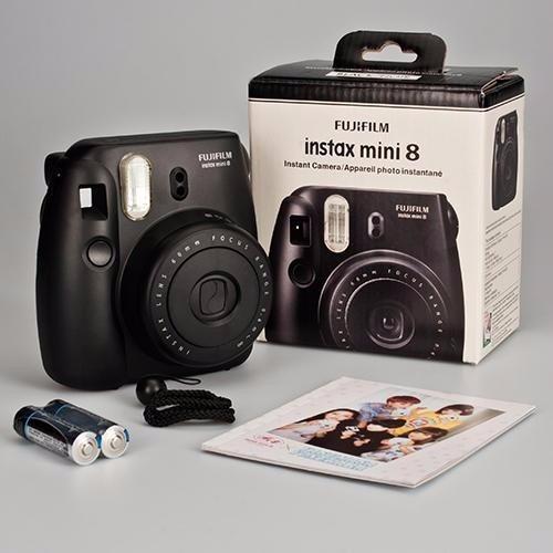 instax mini 8 black negra fujifilm original + 20 peliculas