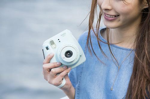 instax mini 9 fujifilm ice blue camara imprime fotos