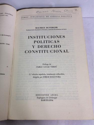 instituciones politicas y derecho constit...maurice duverger