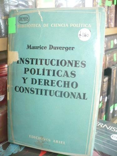 instituciones politicas y derecho constitucional - duverger