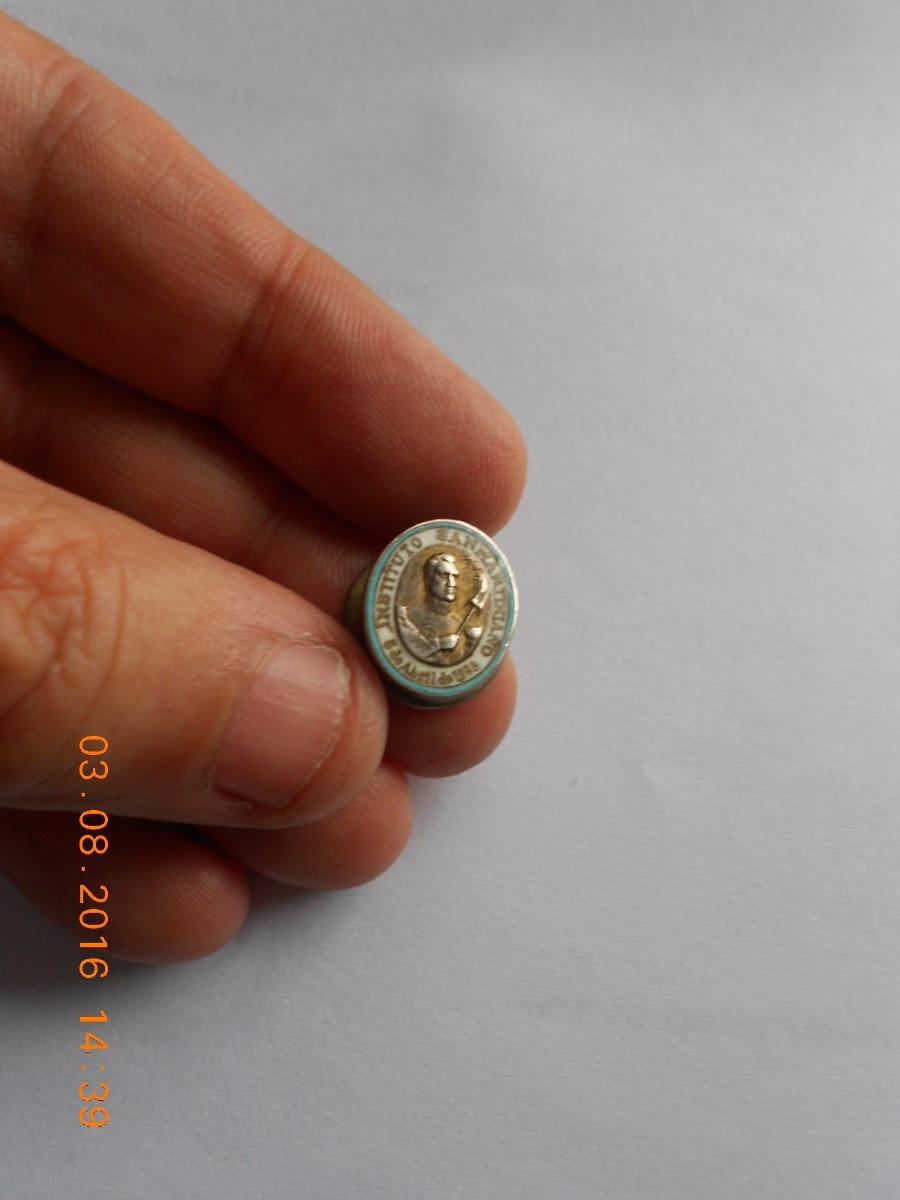 Instituto Sanmartiniano Pin Plata 950 Y Esmalte 1933 - $ 1 900,00
