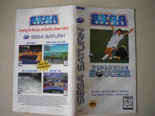 instruções do jogo worldwide soccer - sega saturno