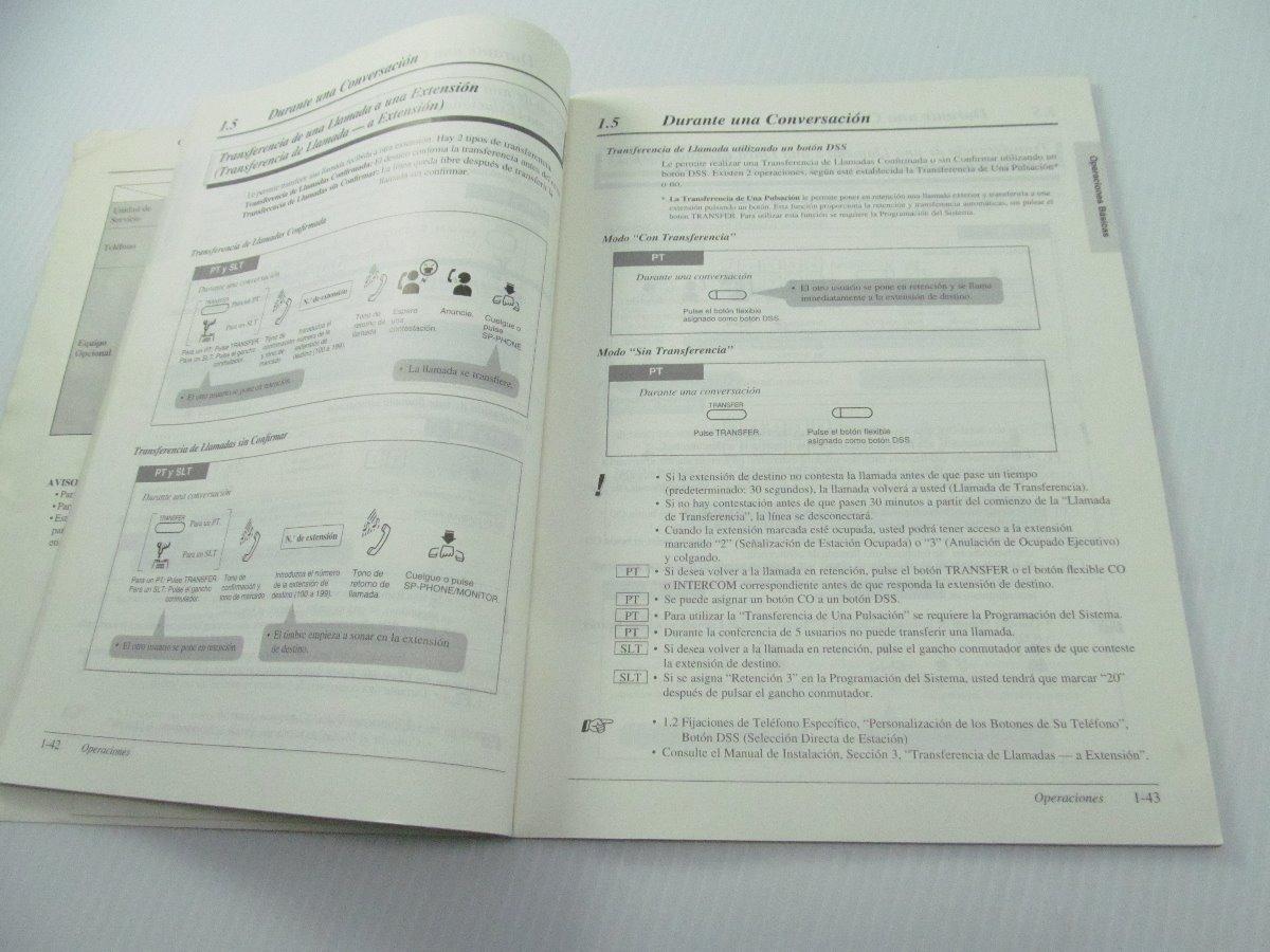 Instructivo Conmutador Panasonic Kxta308 Kxta616 - $ 110.00 en Mercado Libre