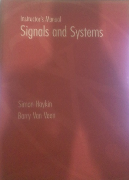 Instructor's Manual - Signals And Systems - Simon Haykin