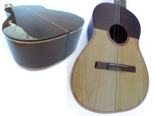 instrumento cuatro profesional color caoba de cedro y pino