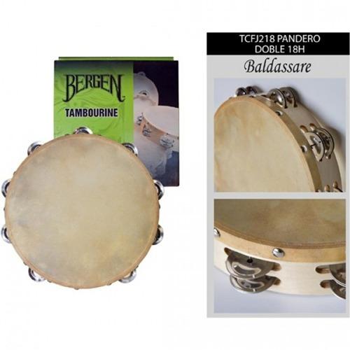 instrumento de percusion baldassare pandero tcfj218 doble 18