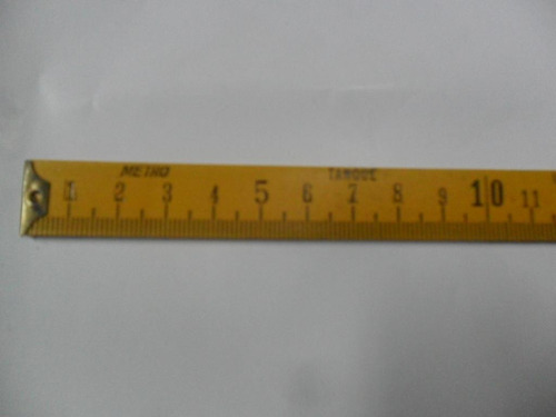 instrumento medicion metro tanque 21 cm madera