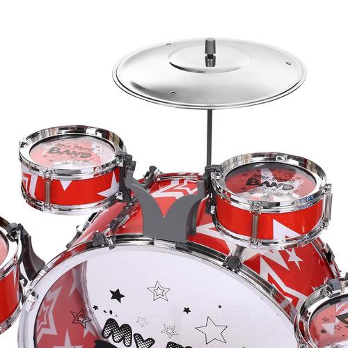 instrumento musical con taburete platillos para niño