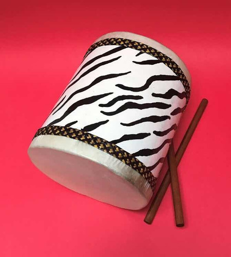 instrumento musical tambor diseño salvaje zebra