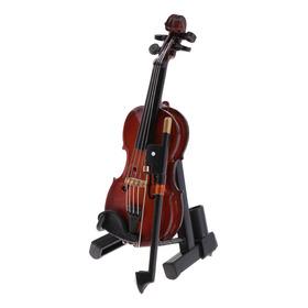 Instrumento Musical Violino De Madeira Com Caixa Para 1/12 C