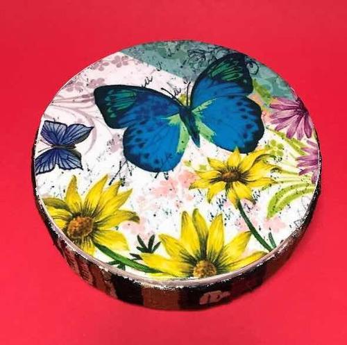 instrumentos musicales mini tambor de olas mariposa