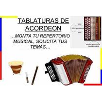 Acordeón.(software)..tablaturas De Canciones Vallenatas..