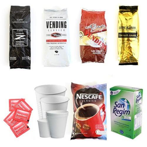 insumos para máquinas expendedoras de café - vending