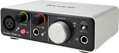 inteface de audio focusrite lighting solo nueva sin uso