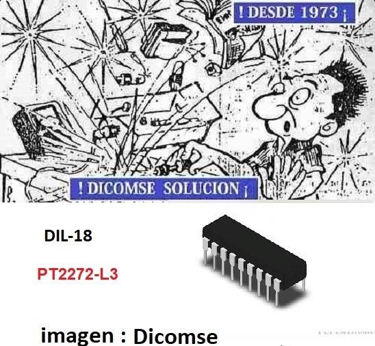 Pt2262 Dip-18 PTC Control Remoto codificador Nuevo 10 un