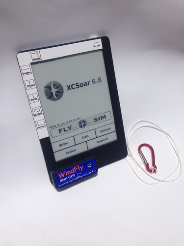 integrado windfly  gps / variômetro, kobo touch, xc soar