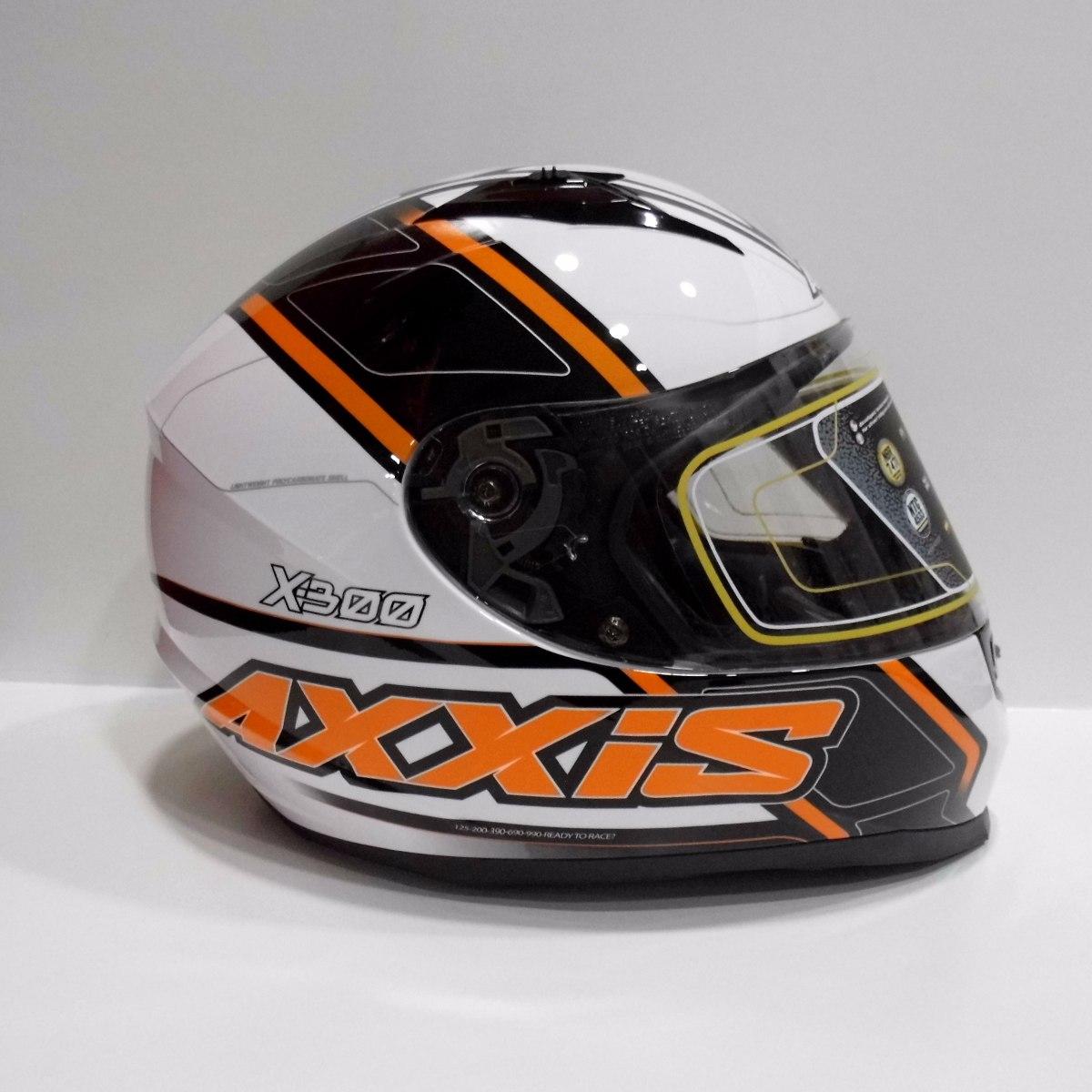 ab7a2cf257b7b Casco Moto Axxis X-300 Duke Blanco Integral Deportivo. -   62.900 en  Mercado Libre