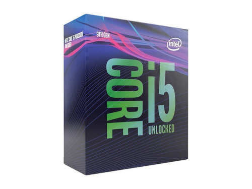intel 9na generación i5 9600k y más, i7, i9 9na generación