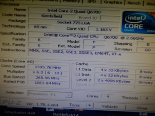 intel core 2 quad - q6700 - 2,66 ghz 8mb - 775