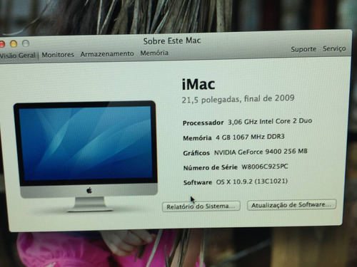 intel core duo apple imac 21,5