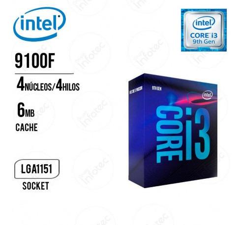 intel core i3 9na generación 9100f 3.60 ghz, lga 1151 new