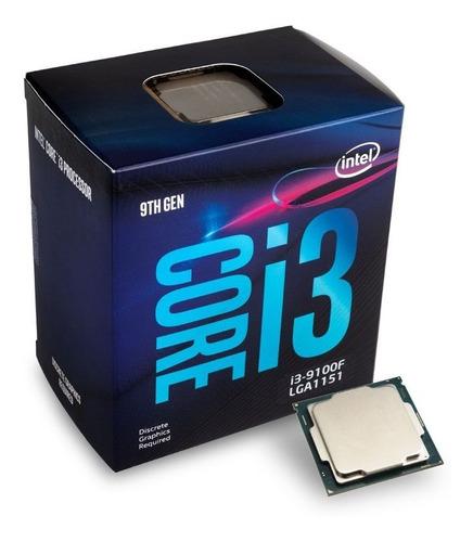 intel core i3 octava generación 9100f 3.60 ghz, lga 1151 new