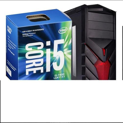 intel core i5 7400 + d.d 1 tera + 8 de ram + monitor 24'