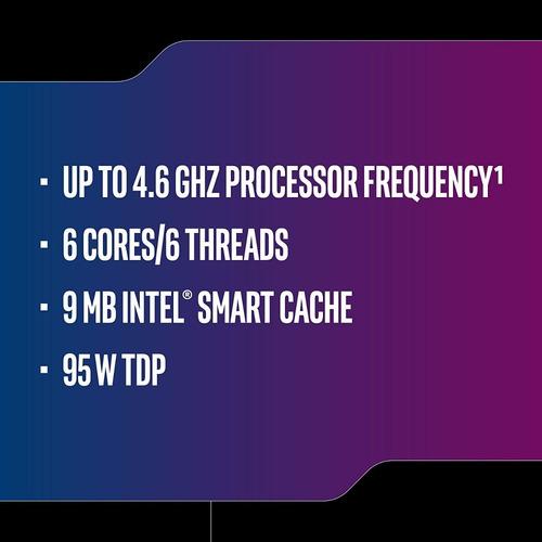 intel core i5-9600k de 6 núcleos hasta 4,6 ghz turbo promo!!