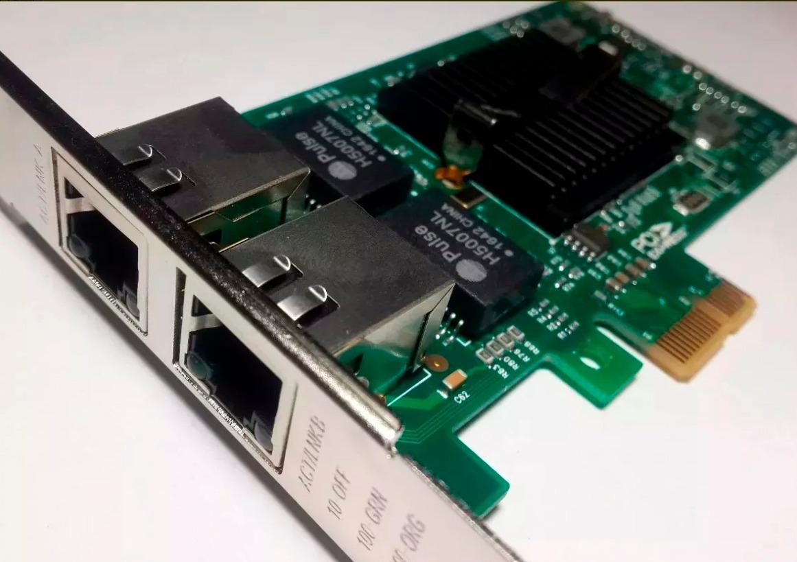 Intel Ethernet Dual Port Pcie 1x Lan 82576eb-2t Gigabit