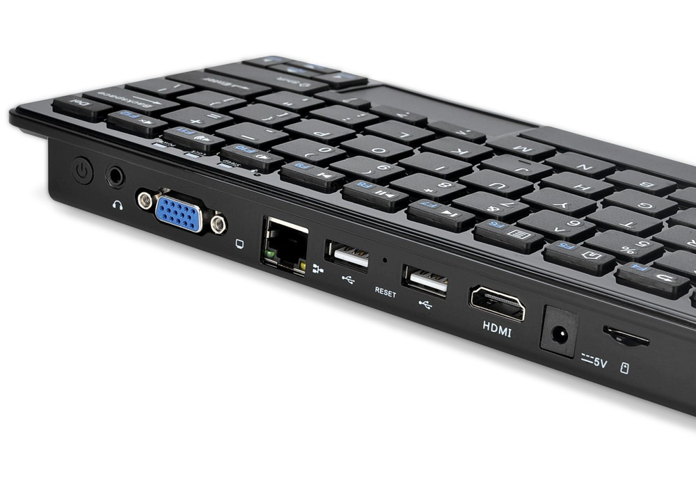Mini Pc Teclado 72 Teclas Windows 10 Intel Quad Core 2gb