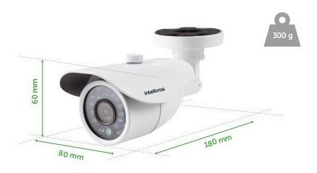 intelbras  câmera 2.8mm vm 3120 ir  g4 super analógica 720p