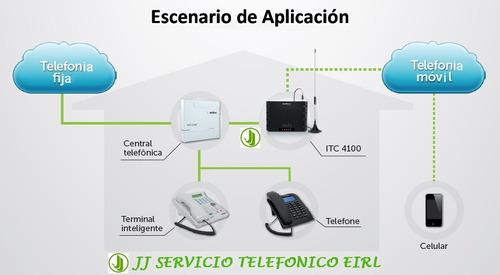 intelbras perú - base celular gsm - itc 4100 - ¡nuevo!