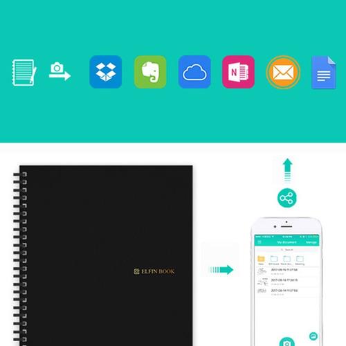 inteligente reutilizable borrable cuaderno nube almacenamien