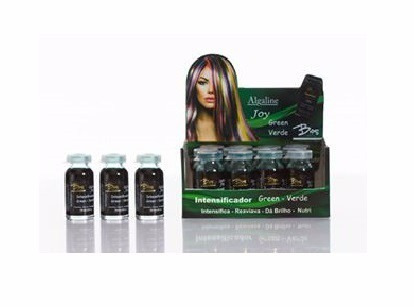 intensificador e tonalizante algaline joy green (3 unid 10ml