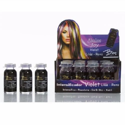 intensificador e tonalizante algaline joy violet cx c/12 uni