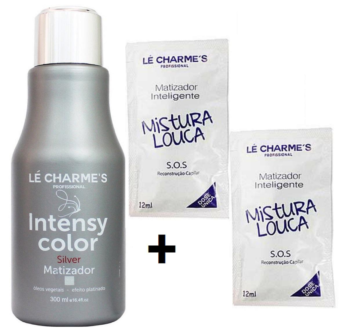 b4adcdcfd Intensy Prata 300ml + 2 Saches Mistura Louca Lé Charme's - R$ 65,99 ...